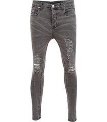 jeans brave soul regular lenght negro - calce skinny