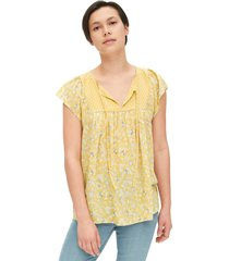 blusa amarillo-blanco gap mini yellow floral
