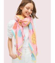 kate spade new york pineapple spade oblong scarf