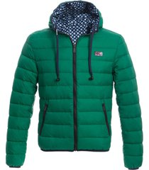 man double face green down jacket