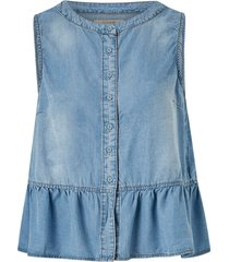 blus esthercr denim top