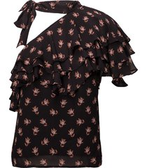 ginna blouses short-sleeved zwart custommade