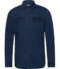 b.int worker shirt overhemd casual blauw barbour