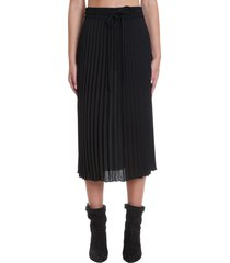 red valentino skirt in black polyester