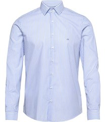 bold stripe slim shirt overhemd casual blauw calvin klein