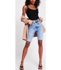 river island womens black buckle strap bodysuit