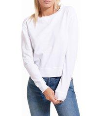 women's goodlife crop sweatshirt, size large - white