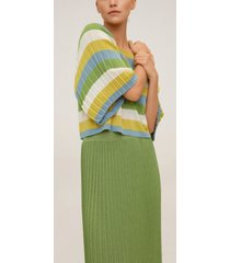 mango women's pleated knit skirt