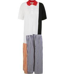 plan c stripe skirt print long dress