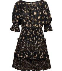 bohemian smocking dress dresses everyday dresses svart by ti mo