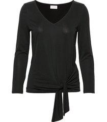 viatetsy 7/8 knot t-shirt/l t-shirts & tops long-sleeved svart vila
