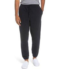 men's herschel supply co. high-pile fleece pants, size medium - black