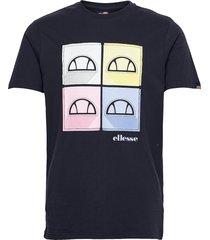 el dice tee t-shirts short-sleeved blå ellesse