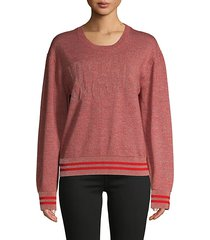 reflective wool-blend pullover sweater
