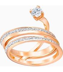 anello fresh, bianco, placcato oro rosa