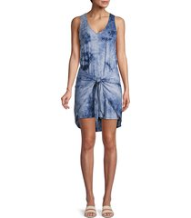 supply & demand women's morgan tie-waist tie-dye tank dress - charcoal - size m