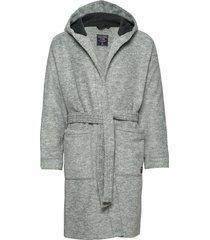 fleece robe ochtendjas badjas grijs abercrombie & fitch