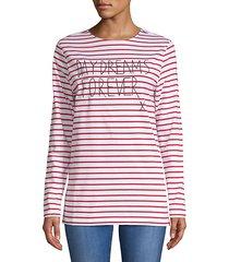 striped long-sleeve tee