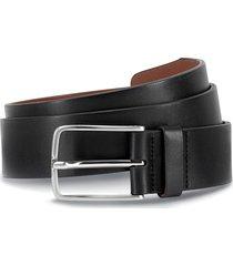 men's allen edmonds broadway avenue leather belt, size 42 - black calfskin