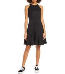 women's fraiche by j sleeveless godet flared dress