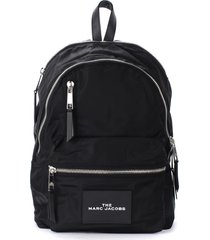 the marc jacobs the zipper backpack in black nylon