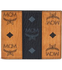 men's mcm visetos leather wallet -