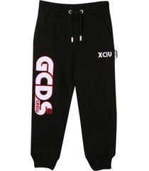 gcds mini black sporty trousers