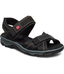 68851-00 shoes summer shoes flat sandals svart rieker