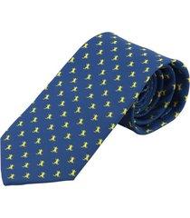 corbata rana dorada - azul oscuro prietto & co