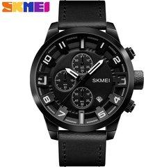 reloj de cuarzo de los hombres de moda al aire libre-negro