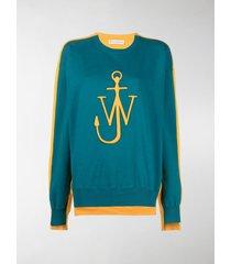 jw anderson deconstructed fleece back sweatshirt