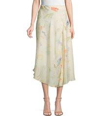 dessie printed silk midi skirt