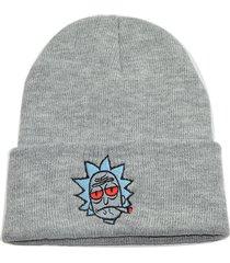 uomo donna inverno lavorato a maglia spessa rick and morty beanie hats outdoor caldo cappello ad alta elasticizzato tinta unita