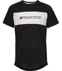 performance mesh tee t-shirts short-sleeved zwart tommy sport