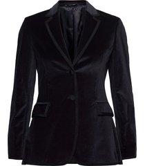 d2. velvet club blazer blazers business blazers blauw gant