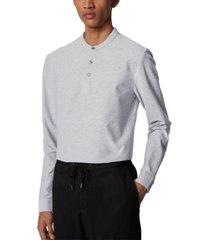 boss men's pal 08 slim-fit henley shirt