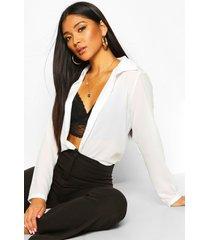 geweven blouse, wit