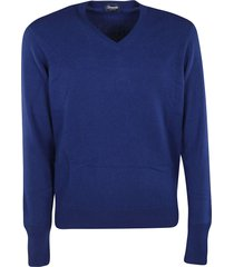 drumohr knitted v-neck sweatshirt