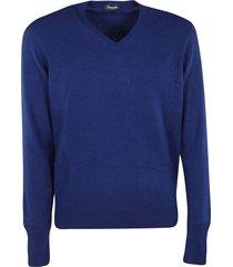 drumohr knitted v-neck sweatshirt