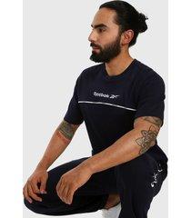camiseta azul navy-blanco reebok classics classics linear