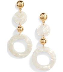 women's ettika lucite ring drop earrings