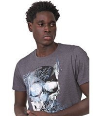 camiseta fiveblu manga curta caveira grafite - grafite - masculino - algodã£o - dafiti