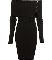 abito in maglia con spalle scoperte (nero) - bodyflirt boutique