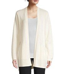 seersucker silk & organic cotton cardigan sweater