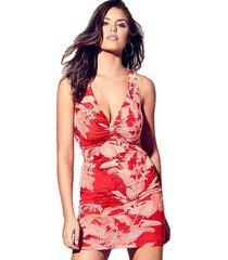 vestido sl anaya dress rojo guess