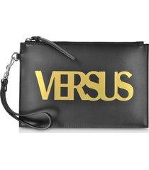versace versus designer handbags, black leather versus pouch