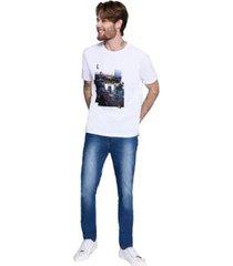 camiseta gola silk london masculina - masculino