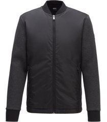 boss men's skiles zip-through sweatshirt