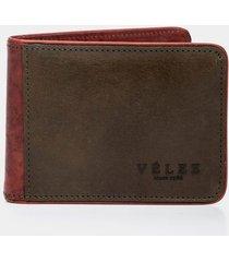 billetera de cuero combinado