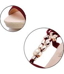 moda para mujer punta abierta sandalias de cuñas altas para el verano